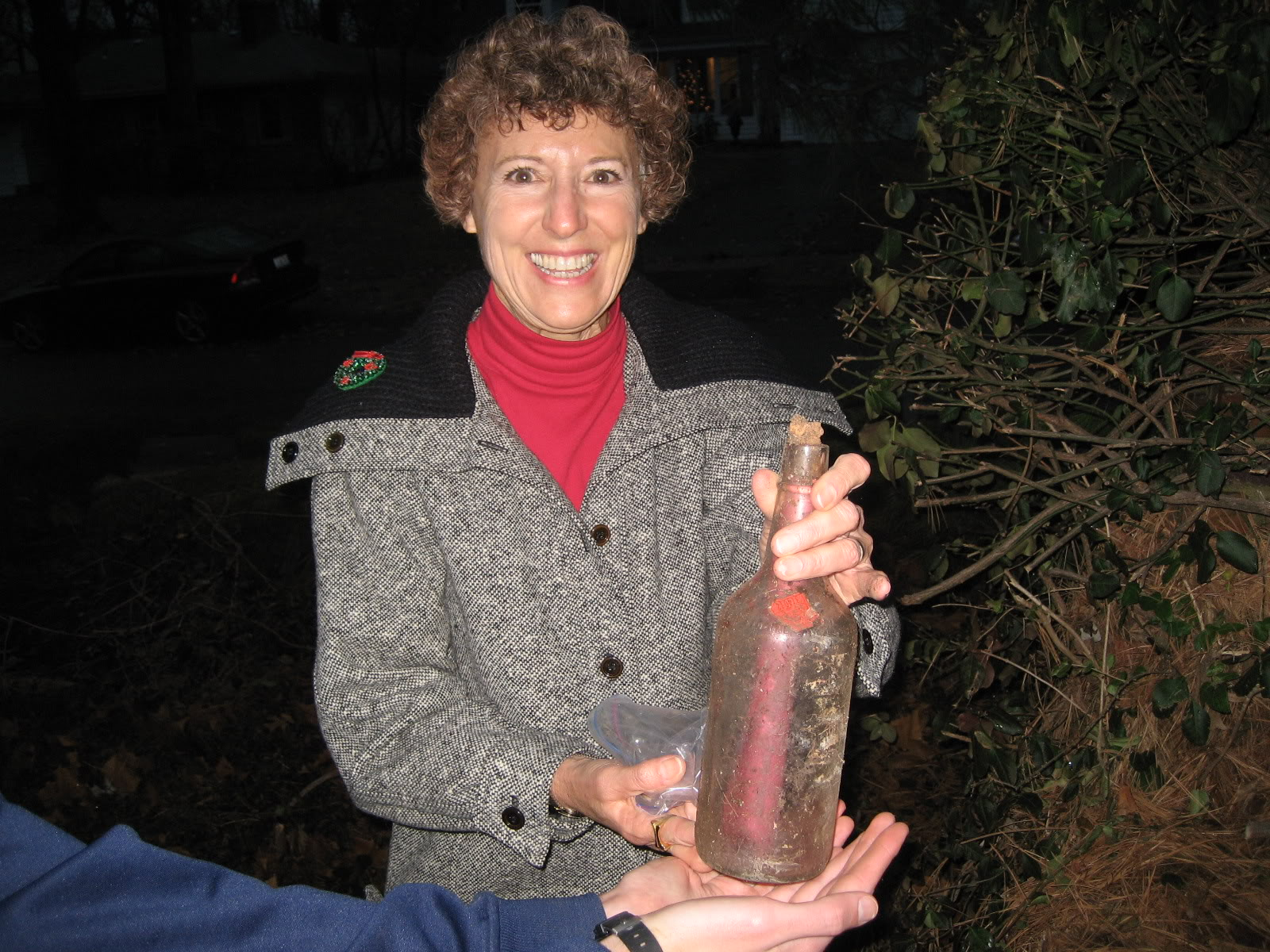 Mom with bottle.