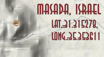 Israel Map - Masada