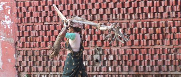 Streets Of Delhi - Wood