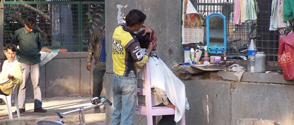 Streets Of Delhi: Outdoor BarberShop