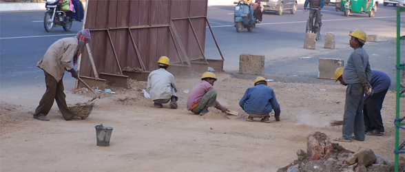 The Streets Of Delhi - Sweeping Bare Dirt