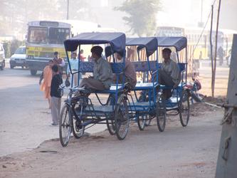 Streets Of Delhi - Pedicabs