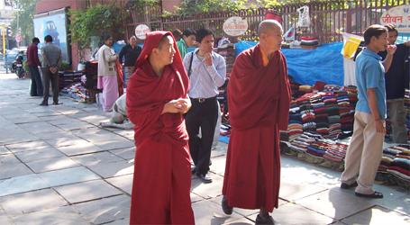 The Streets Of Delhi - Monks