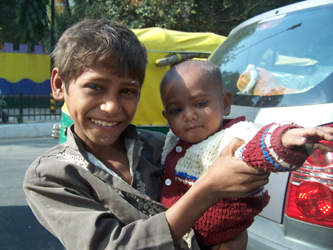 The Streets Of Delhi - Panhandler Kids