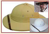 From The Village Hat Shop Website  The African Safari Pith Helmet that you  see here is the newest pith helmet in our line. Like most of the others  (Indian fad4b5ba91e